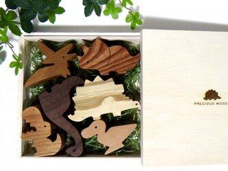恐竜積み木・オリジナルBOX入りの画像