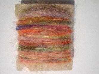 フワフワモヘア虹色糸の画像