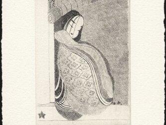 源氏物語絵巻・鈴虫一より/銅版画 (額なし)の画像