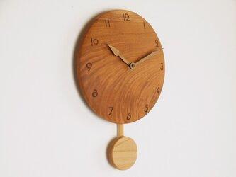 木製 振り子時計 ケヤキ材2の画像