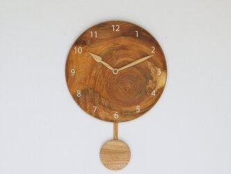 木製 振り子時計 ケヤキ材7の画像