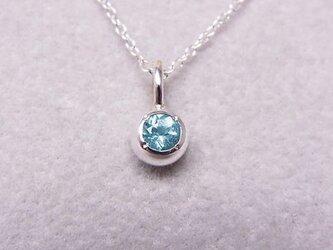 ブルーアパタイトの純銀の珠の画像