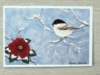 「椿と小鳥」(お好きなポストカード2枚)の画像