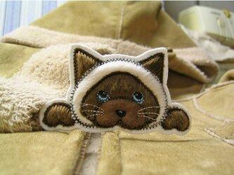 ★おでぶなシャム猫★サイアミーズ★猫ワッペン★の画像