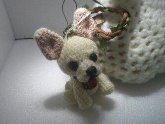 ③気分屋編み雑貨【白チワワ】の画像