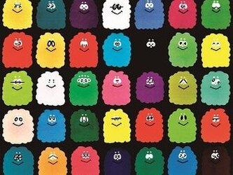 カラフル キノコのポストカードセットの画像