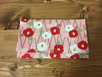 懐紙、通帳いれ Tsubaki2 pinkの画像