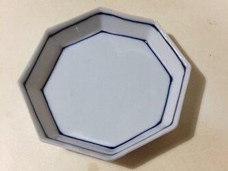 Z213 磁器染付八角小皿の画像