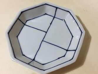 Z214 磁器染付八角小皿の画像