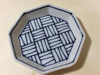 Z215 磁器染付八角小皿の画像