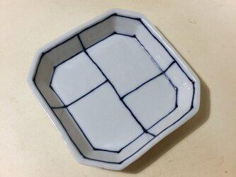 Z224 磁器染付角小皿の画像