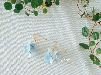 紫陽花のピアス ブルー系の画像