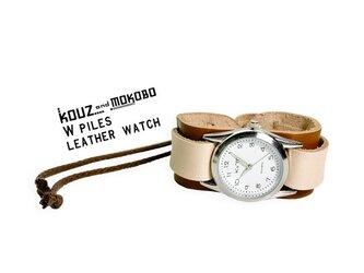▲WPILES 経年変化が愉しみになるバイカラー「Wパイルズ 腕時計」金属アレルギー◎(WPW-BWW-B)の画像