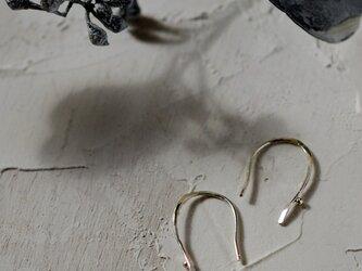 「あさつゆ」シルバーフックピアスの画像