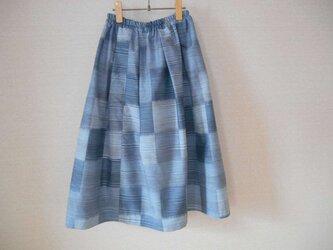 再販★新品紬のさわやかスカートの画像