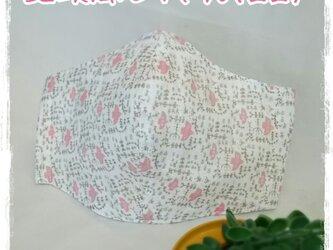 (LL)ワイヤ入り立体マスク*北欧風とり*ピンクの画像