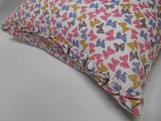 リボン付きかわいいリボン柄枕カバーの画像