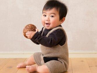 baby ポケットロンパース 〜グレージュ〜の画像