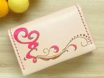 【名入れ無料】【名入れ無料】オトナ☆かわいい カードケース 名刺入れ 本革 ピンクの画像