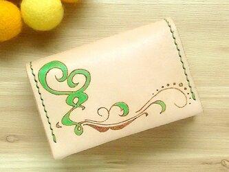 【名入れ無料】【名入れ無料】オトナ☆かわいい カードケース 名刺入れ 本革 グリーンの画像