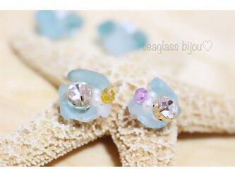 seaglass bijou♡(ピアス・イヤクリップ)miniの画像