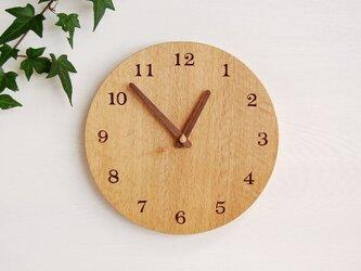 直径28cm 掛け時計 オーク【1701】の画像