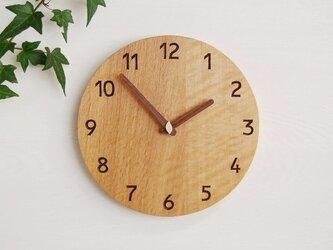 直径28cm 掛け時計 オーク【1702】の画像