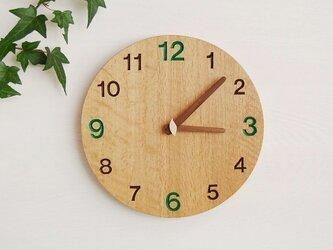 直径28cm 掛け時計 オーク【1703】の画像