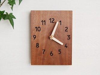 19cmX25cm 掛け時計 ウォールナット【1704】の画像