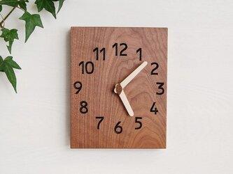 19cmX24cm 掛け時計 ウォールナット【1705】の画像