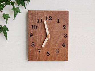 19cmX24cm 掛け時計 ウォールナット【1706】の画像