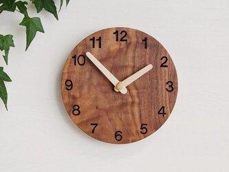 直径20cm 掛け時計 ウォールナット【1707】の画像