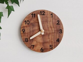 直径20cm 掛け時計 ウォールナット【1708】の画像