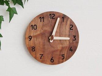 直径20cm 掛け時計 ウォールナット【1709】の画像
