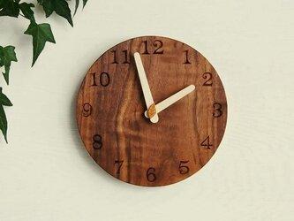 直径20cm 掛け時計 ウォールナット【1710】の画像