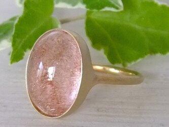 ストロベリークォーツ*K14 lunapinkgold ringの画像