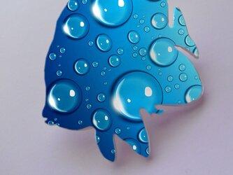 アートバレッタ(エンゼルフィシュ) 水滴【送料無料】の画像