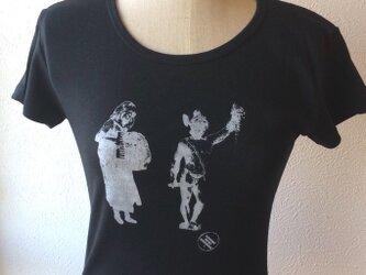 手刷りTシャツ Ladies M【子どもたち T6】の画像