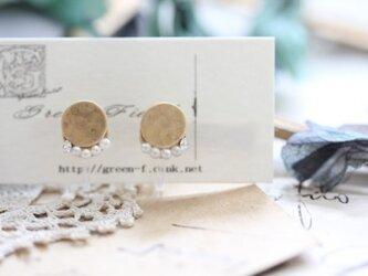 ピアスのようなイヤリング*丸とパールのイヤリング*の画像