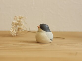 【如月・新作】文鳥 (受注制作)国産ヒノキの木箱入りの画像