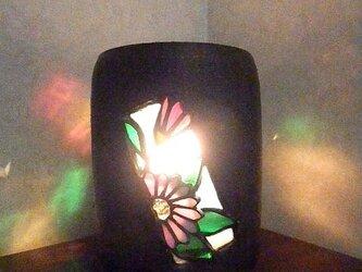 陶器ステンドランプ 小菊の画像
