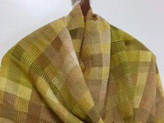❐手織り/植物染料/イースター・ストール/極細ウールの画像