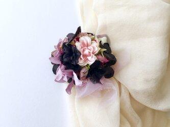 コサージュ&ヘアアクセサリー 紫陽花とミニバラの画像