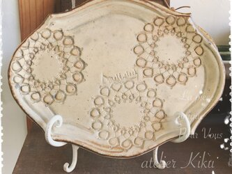 Lace plate -ring doily-の画像