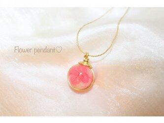 春色Flower pendantの画像