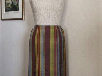 ストライプの紬地スカートの画像
