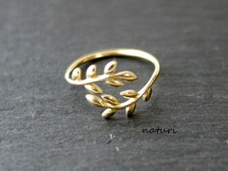 【feuille】brass leaf ringの画像