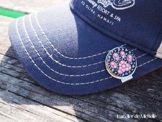 【再販×1】ゴルフマーカー(肉球・ブラック&ピンク)の画像