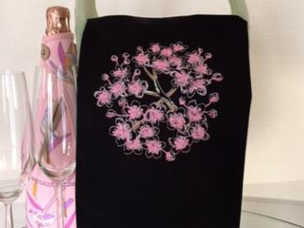 オーダーメイド Sakura 刺繍 ワイントーション お花見パーティーに★の画像