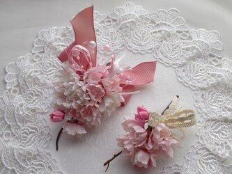 親子でお揃い♪ 桜のコサージュ 卒園式 入学式の画像